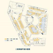 东阿鲁商城市广场二层平面示意图