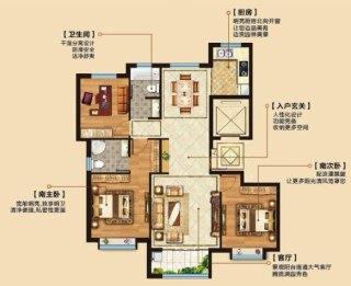 张汉吴小区附近,3室2厅2卫精装电梯房,52.7万130m²出售